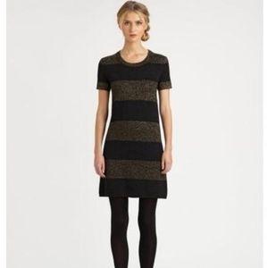 Kate Spade Freyda knit metallic striped mini dress
